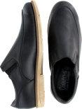 Ola svart lätt loafer med stretchmaterial