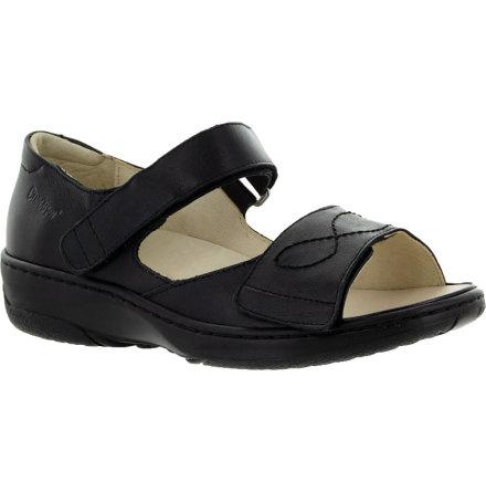 Siri svart sandal med hälkappa