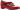 Angela röd pumps med strass och kardborre