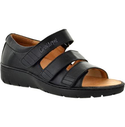 Kayla svart* sandal med hälkappa och stretchparti