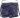 Stor skinnväska marin med blommigt foder