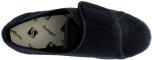 Evan svart tvättbar textilsko, kardborre