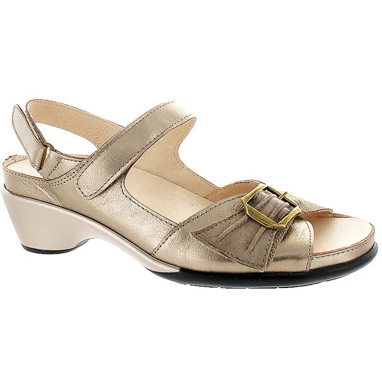 Ingrid guld sandalett med kardborre